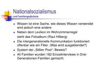 Nationalsozialismus    und Familienged�chtnis