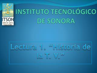 INSTITUTO TECNOL�GICO DE SONORA