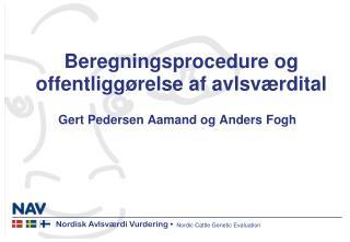Beregningsprocedure og offentligg�relse af avlsv�rdital