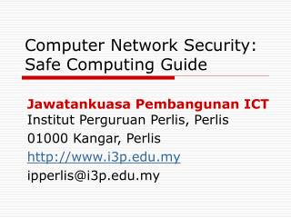 Computer Network Security: Safe Computing Guide