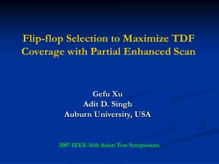 Flip-flop Selection to Maximize TDF Coverage with Partial Enhanced Scan