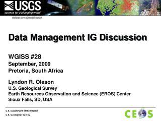 Data Management IG Discussion