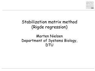 Data driven method training