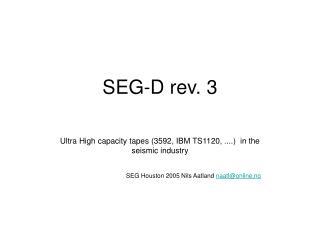 SEG-D rev. 3