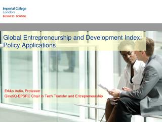 Global Entrepreneurship and Development Index: Policy Applications