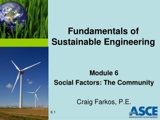 Fundamentals of Sustainable Engineering
