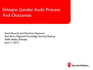 Ethiopia Gender Audit Process  And Outcomes