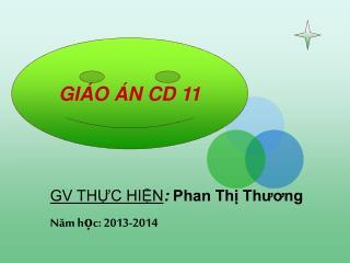 Giáo án CD 11