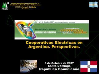 Cooperativas Eléctricas en Argentina. Perspectivas.
