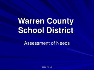 Warren County  School District