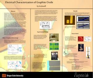Electrical Characterization of Graphite Oxide