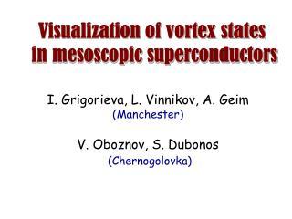 Visualization of vortex states  in mesoscopic superconductors