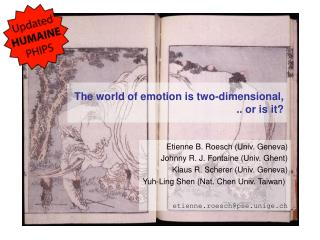 The world of emotion is two-dimensional, .. or is it?