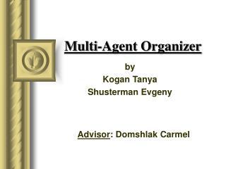 Multi-Agent Organizer
