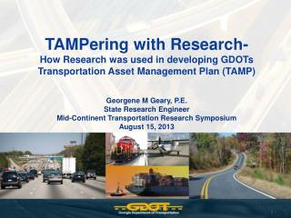 TAMPering with Research-