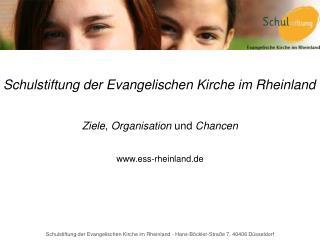 Schulstiftung der Evangelischen Kirche im Rheinland