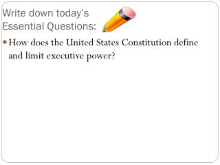Write down today's  Essential Questions: