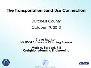 NYSDOT Statewide Planning Bureau