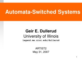 Automata-Switched Systems