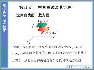 第四节   空间曲线及其方程