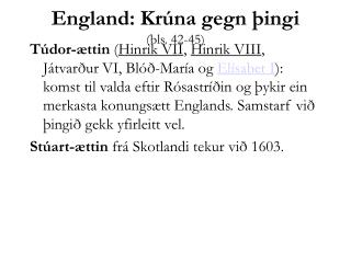 England: Krúna gegn þingi (bls. 42-45)