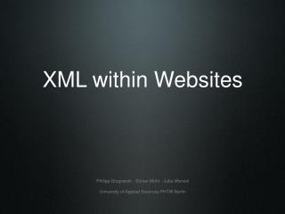 XML within Websites
