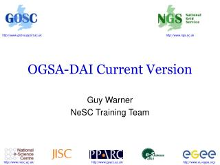 OGSA-DAI Current Version