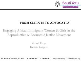 FROM CLIENTS TO ADVOCATES