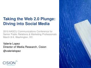Taking the Web 2.0 Plunge: Diving into Social Media