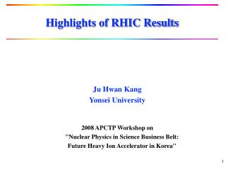 Highlights of RHIC Results