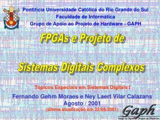 FPGAs e Projeto de Sistemas Digitais Complexos