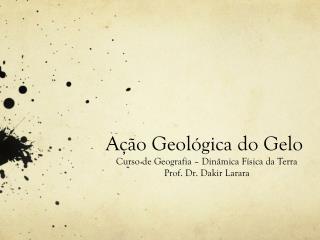 Ação Geológica do Gelo