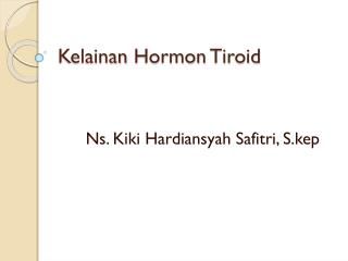 Kelainan Hormon Tiroid