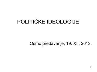 POLITIČKE IDEOLOGIJE