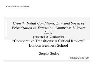 Sergio Godoy Saturday, June 12th