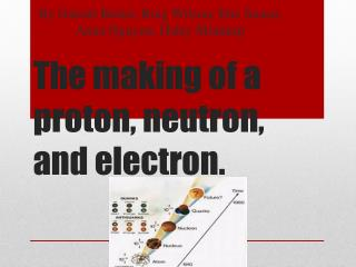 The making of a proton, neutron, and electron.