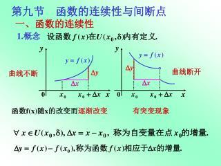 第九节    函数的连续性与间断点