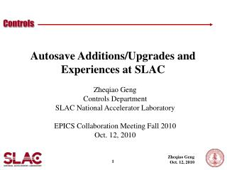 Autosave Additions/Upgrades and Experiences at SLAC