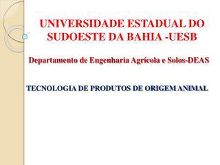 UNIVERSIDADE ESTADUAL DO SUDOESTE DA BAHIA -UESB