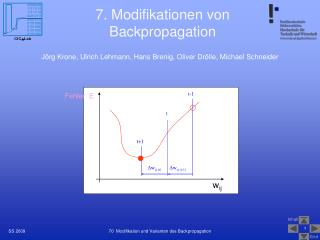 7. Modifikationen von Backpropagation