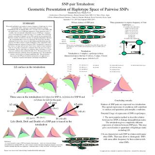 SNP-pair Tetrahedron:  Geometric Presentation of Haplotype Space of Pairwise SNPs