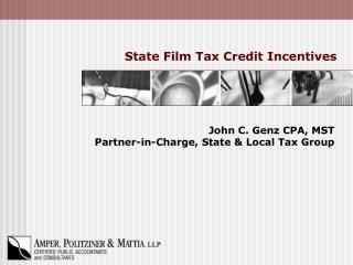 State Film Tax Credit Incentives
