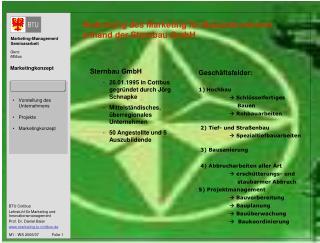 Bedeutung des Marketing für Bauunternehmen anhand der Sternbau GmbH