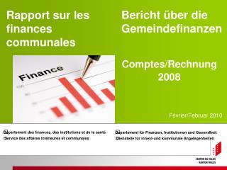 Rapport sur les finances communales