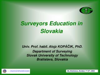 Surveyors Education in Slovakia