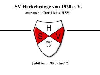 """SV Harkebrügge von 1920 e. V. oder auch:  """"Der kleine HSV"""""""