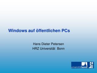 Windows auf öffentlichen PCs