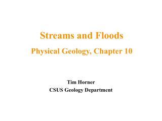 Tim Horner CSUS Geology Department