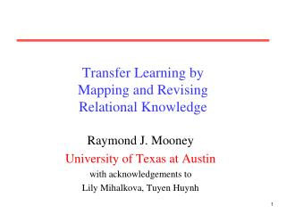 Transfer Learning by  Mapping and Revising  Relational Knowledge