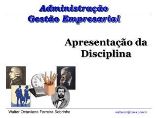 Apresenta��o da Disciplina